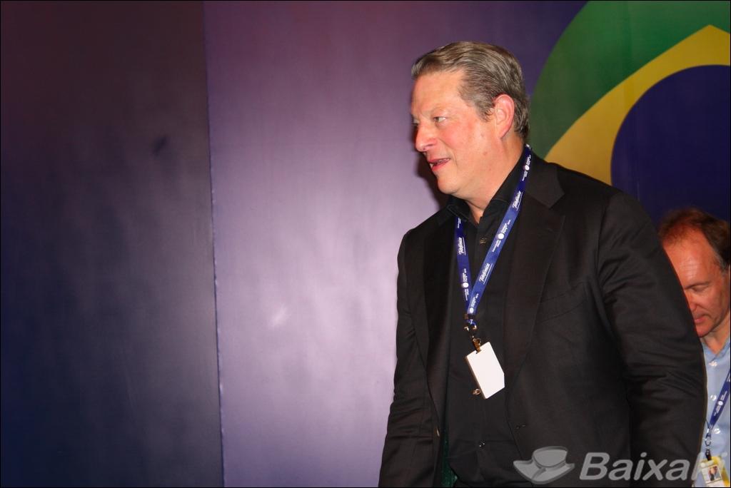 Al Gore, um dos principais palestrantes do evento