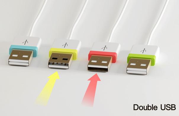 Conecte o USB dos dois lados