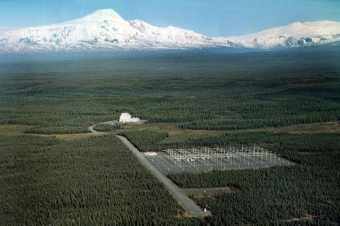 Visão aérea do HAARP