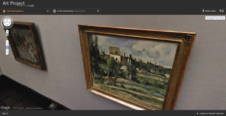 Galeria de arte online no estilo StreetView.