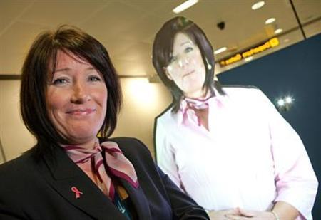 Um dos hologramas do aeroporto de Manchester.