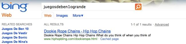 Com os mesmos resultados no Bing