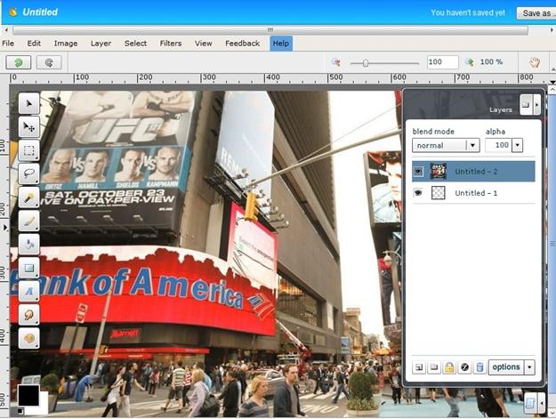 Editor de imagens do Nod Ad: New York.