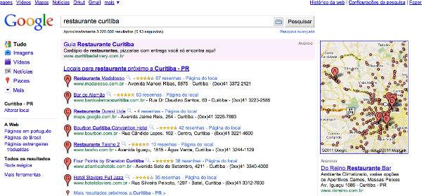 Google Hotpot ativo