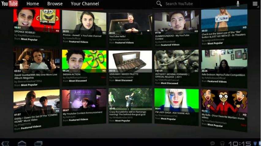 Novo YouTube