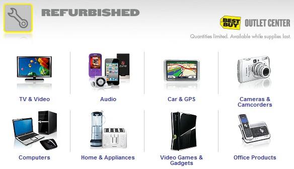 Página especial da Best Buy com produtos refurbished