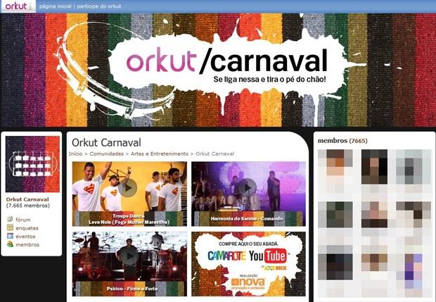 É festa no Orkut!