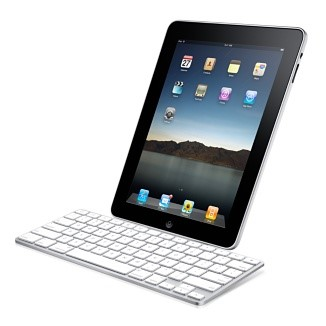 O dock com teclado.