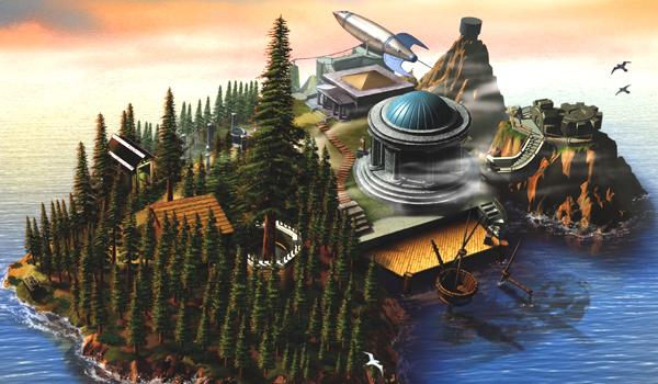 Uma artwork de Myst.