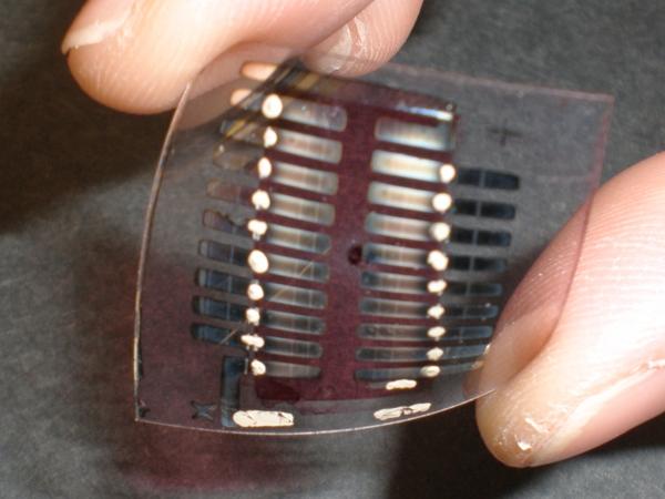 Detalhe das células solares