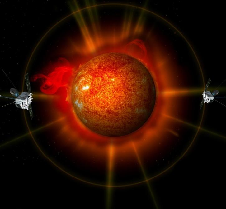 Imagens do sol em 3D