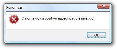 Não adianta, o Windows não deixa!