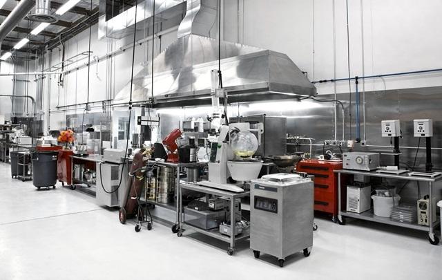 Laboratório onde os experimentos culinários eram feitos.