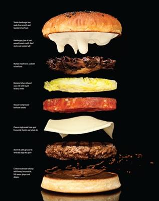 Hmmm! Um hambúrguer em detalhes deliciosos.