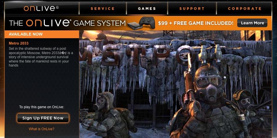 Games podem ser jogados via streaming.