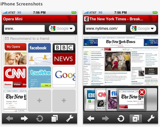 Navegador Opera já está disponível para iPhone.