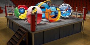 A batalha dos navegadores