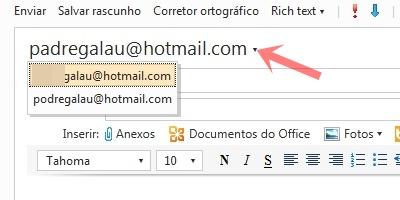 Para escrever emails com o endereço adicional.