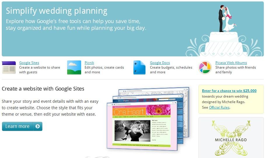 Serviço de casamento da Google