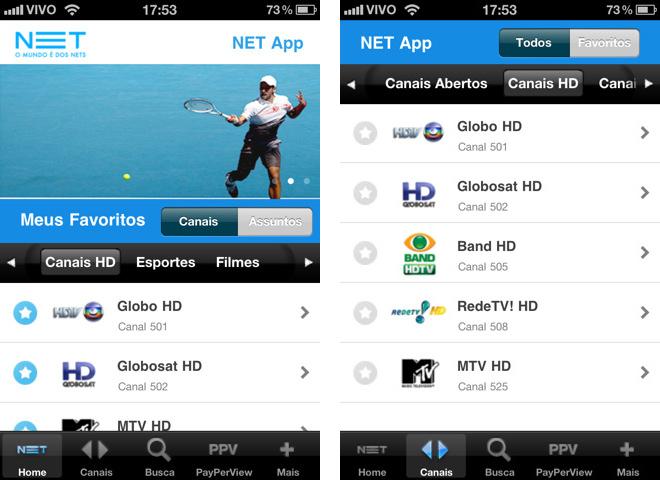 Aplicativo da NET para usuários de iOS