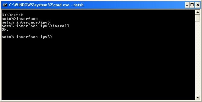 IPv6 instalado!