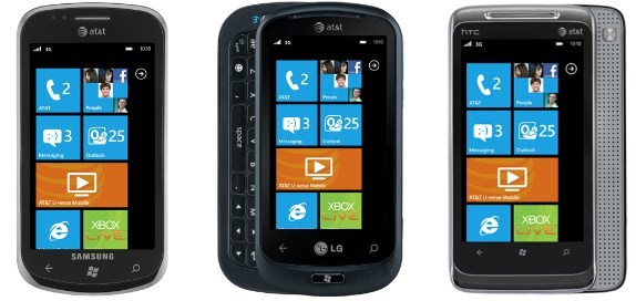 Aparelhos com Windows Phone 7