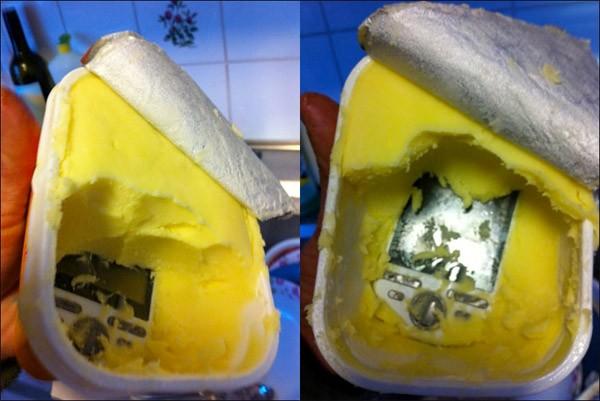 Celular na margarina foi uma surpresa para família norueguesa