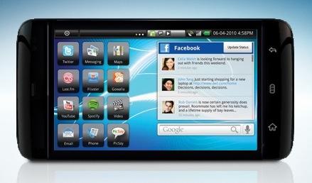 Visual do tablet da Dell