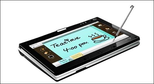 Em detalhe o formato Tablet PC