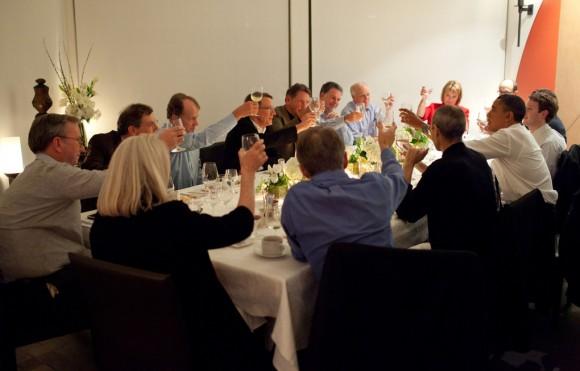 Gigantes da tecnologia jantam com Obama.
