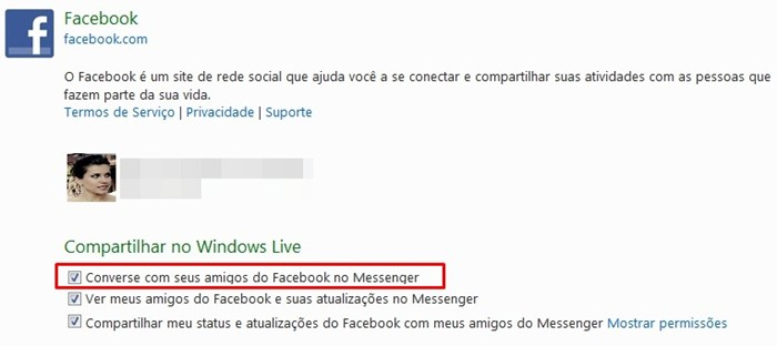 Habilite o chat do Facebook