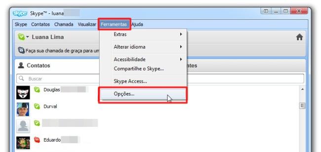 Selecione Ferramentas >> Opções para encontrar a função desejada