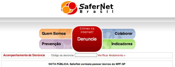 SaferNet: local para denúncias na web