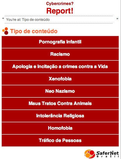 Reportando crimes virtuais