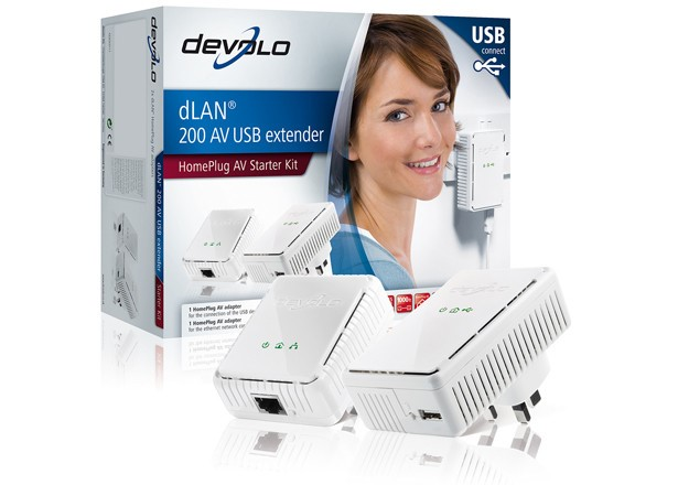 Visual do Devolos dLan 200 AV USB Extender