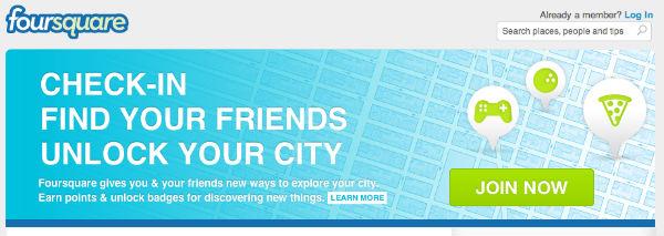 FourSquare direto no seu celular comum