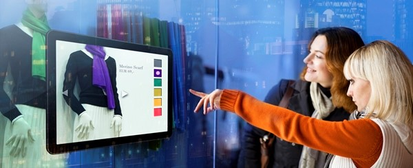 No futuro, vitrines interativas poderão facilitar a compra