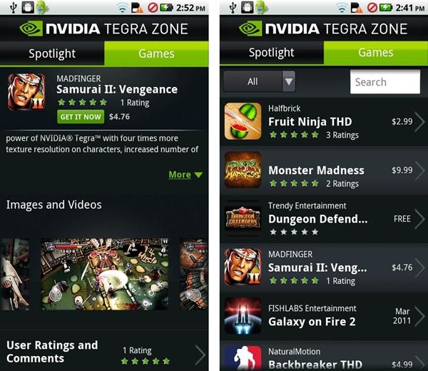 Tegra Zone já está disponível no Android Market