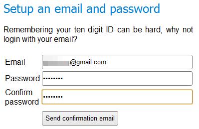 Registre seu email