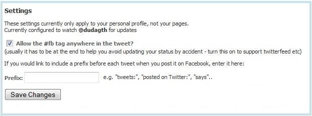 Coloque a hashtag #fb