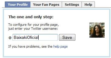 Escreva o login da conta do Twitter desejada