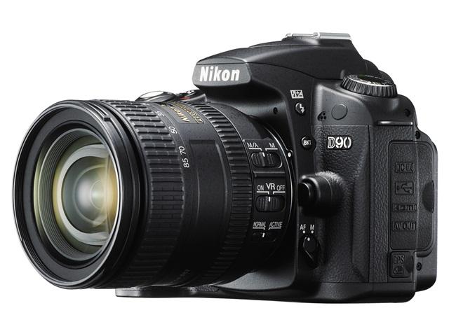 Exemplo de câmera dSLR da Nikon