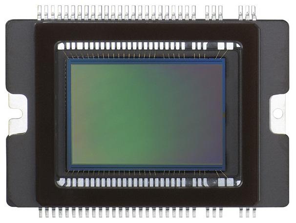 Sensor de imagem de uma câmera profissional da Canon