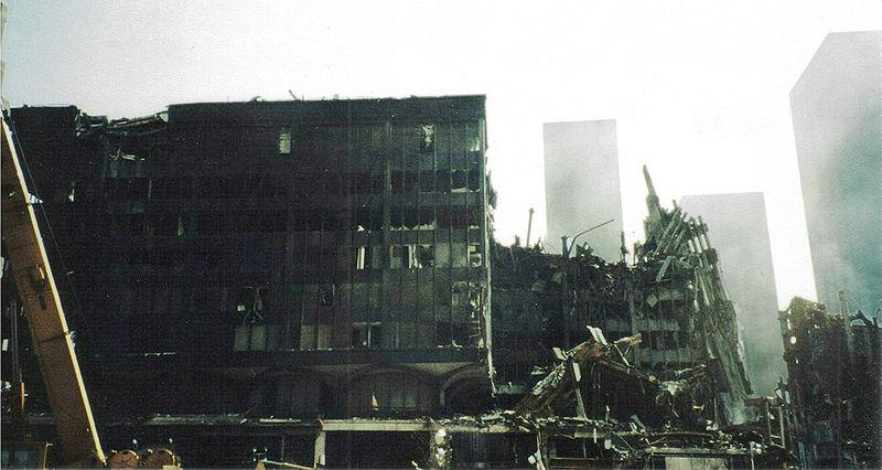 Destroços das torres gêmeas
