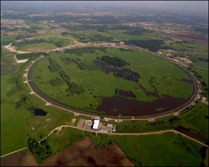 Vista aérea do Fermilab