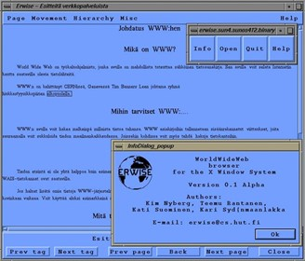 Captura de tela do Erwise