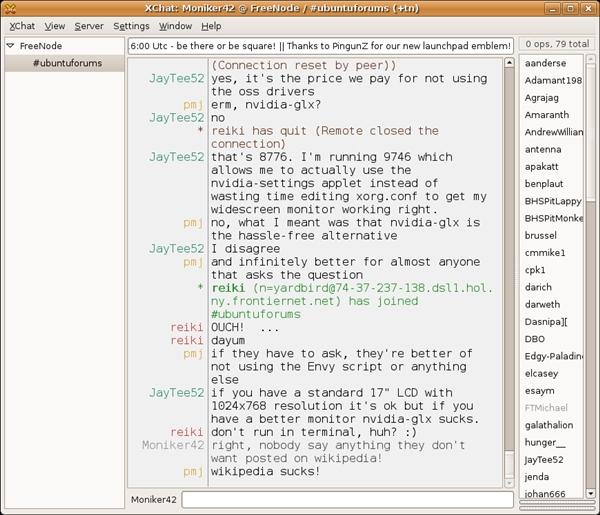 XChat, cliente IRC em uso ainda hoje