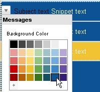 Use novas cores