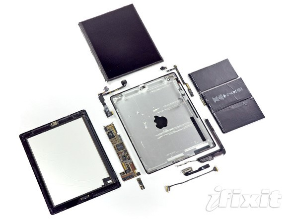iPad desmontado