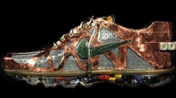 O sapato criado com componentes recicláveis